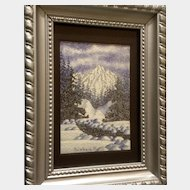 Bert 'Buddy' Calhoun (1946-2007) Rocky Mountain Snow Watercolor Painting Works on Paper Signed by Colorado Artist