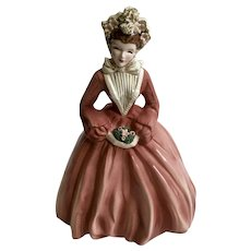 Florence Ceramics Crinoline Lady Sue Ellen Figurine California Pottery