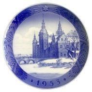 1953 Royal Copenhagen Christmas Plate Frederiksborg Castle in Hillerod