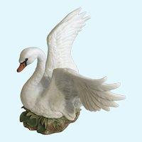1987 Swan Masterpiece Bisque Porcelain Homco Figurine