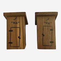 Ma & Pa Wood Outhouse Salt & Pepper Shakers Yellowstone Souvenir