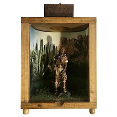 Mid-Century Indian Shadow Box 3D Effect With Light