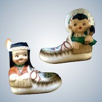 Indian Boy and Girl Salt and Pepper Shakers