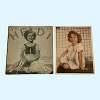 Shirley Temple in Heidi 1937 Book Authorized Edition Fox Plus Photo