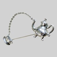 Teapot and Teacup Brooch Pin Avon