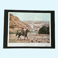 Hubert Wackermann, Navajo Hunter 1981 Limited Edition Print 902/1000 Signed