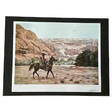 Hubert Wackermann, Navajo Hunter 1981 Limited Edition Print 902/1000 Signed