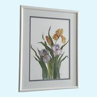 Nora Myers, Iris Flowers Watercolor Painting