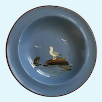 Dartmouth Pottery Devon England Seagull Hand Painted Bird Plate