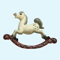 Hagen Renaker Rocking Horse Mare #990 Figurine