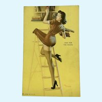 1951-54 Exhibits Pin Up Girl Litho USA Rare Collector Card