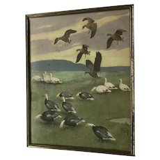 Lynn Bouge Hunt Duck Vintage Print
