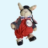 Hoppy Vanderhare Yankee Doodle Stuffed Plush Animal Bunny 1992