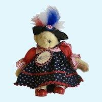 Muffy Vanderbear Yankee Doodle Stuffed Teddy Bear Animal 1992