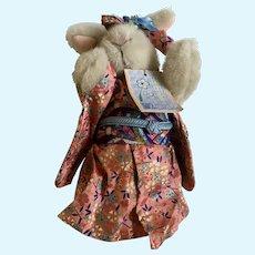 Hoppy Vanderhare Kyoto Blossoms Stuffed Plush Animal Bunny 1989