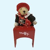 Muffy Vanderbear Back to School Stuffed Teddy Bear Animal Desk