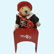 Muffy Vanderbear Back to School Stuffed Teddy Bear Animal Desk