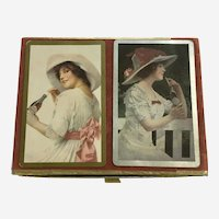 1985 Coca Cola Gibson Girls Playing Cards By Congress