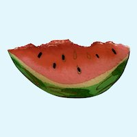 Large Watermelon Slice Brooch Pin Signed