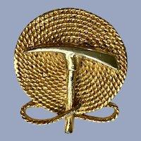 Gold-Tone Mountain Climbers Brooch Pin