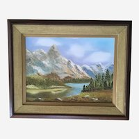 Lester Cilley Mountain Landscape Oil Painting Signed By Arizona Artist
