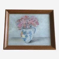 Wilhelmina, Floral Still Life Pastel Painting
