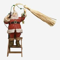 1992 Coca-Cola Decorating The Tree-Santa On Ladder Christmas Ornament