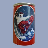 Tiny Polar Bear Coca-Cola Soda Can with Liquid 1997 Alpa