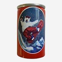 Tiny Polar Bear Coca-Cola Soda Can with Liquid 1997 Alpa