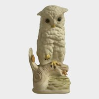 Cybis Baby Owl Porcelain Bisque Figurine