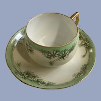 Vintage Hand Painted Daisies Cup & Saucer