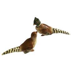 Bone China Miniature Pheasant Bird Figurines