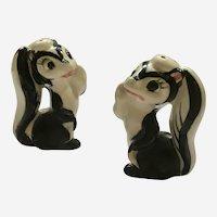 Mid-Century Skunk Salt & Pepper Ceramic Shakers Japan
