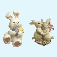 Vintage Easter Bunny Rabbit Brooch Pins