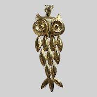 Witty Owl Gold-tone Segmented Avon Necklace