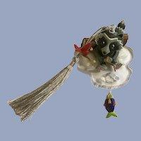 Hallmark The Fishing Hole Raccoon Christmas Ornament 2000