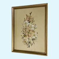 Maude Gibson Floral Sprig Watercolor Painting