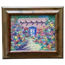 Deborah (Debbie) Gold Adobe House Oil Painting on Canvas