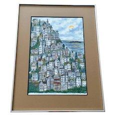 Gus C. Bayz, San Francisco Bay Alcatraz Island Limited Edition Print