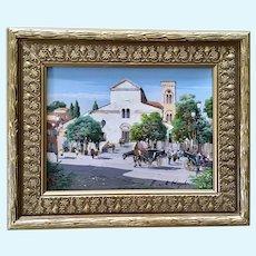 Rispoli Ernesto, Ravello Piazza Vescovado Oil Painting