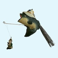 Fish Fishing for Humans Christmas Ornament