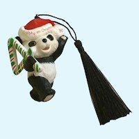1990 Hallmark Panda Bear My 4th Christmas Ornament