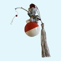 Hallmark Mouse Fishing with Bobber Christmas Ornament 2002