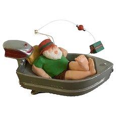 Hallmark Santa Claus Gone Wishin' 1992 Christmas Clip Ornament