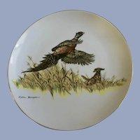 Clark Bronson Pheasant & Dog Limited Edition Plate