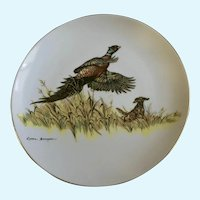 Clark Bronson Pheasant & Dog Limited Edition Plate