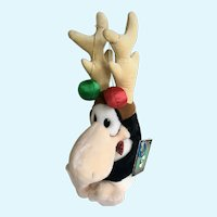 Opus Christmas Penguin Reindeer Stuffed Plush Animal Dakin 1985