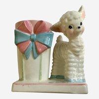 Mid-Century Baby Lamb Planter Ceramic