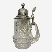 K Sumelka Cut Crystal Stein with Lid