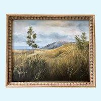Opal Palmer, Coastal Landscape Oil Painting
